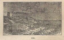 A0668 Dune - Monticelli di terra - Stampa Antica del 1911 - Xilografia