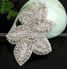 Rhinestone Applique Pearl Applique Crystal Lace Trim Bridal Accessories