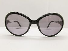 Christian Dior Disco Eyeglass Frames 54-17-125 Black Silver Round TV3 7599