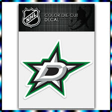 "Dallas Stars NHL Die Cut Vinyl Sticker Car Bumper Window 3.4""x4"""