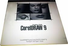 CorelDraw 9 Graphics Suite 3 CD's New! Sealed for PC!!