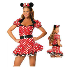 Adult Women Minnie Mouse Halloween Costumes Fancy Dress Headband Outfit Cosplay