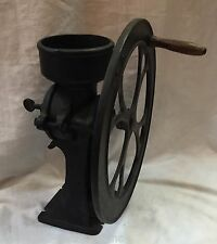 Antique Mercantile No2 SINGLE WHEEL BLACK CAST IRON COFFEE / GRAIN GRINDER MILL