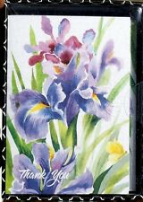 bLUE iNK Boxed Set of 16 Thank You Note Cards  ~ Iris Beauty
