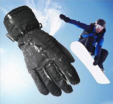 New Style Unisex Mens Black Full Finger Gloves Outdoor Sport Ski Winter Mittens