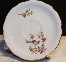 KAHLA KHL3 SAUCER MULTICOLOR BIRD TREES GOLD BAND GDR EAST GERMAN