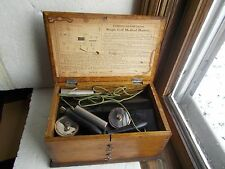ANTIQUE SINGLE CELL MEDICAL BATTERY QUACK SHOCK MACHINE ORIGINAL WOOD BOX NICE!