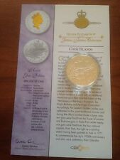 2003 Gold Silver Proof 1oz $1 One Dollar Coin. Queens Jubilee Royal Gun salutes