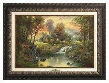 Thomas Kinkade - Mountain Retreat – Canvas Classic (Aged Bronze Frame)