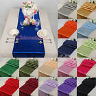 """New 10PCS 12""""x108"""" Wedding Satin Table Runner Party Kitchen Decoration 18 Colors"""