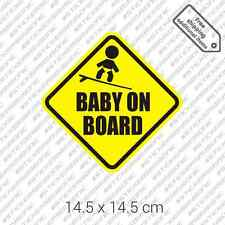 Baby on Board surfboard sticker joke sign surfing car bumper decal vinyl