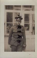 WW1 Pte Notts & Derby Regiment Sherwood Foresters wears lanyard