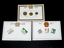 Stamps - 1993 Macau China Collection Stamps & Coins set of 3
