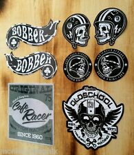8er Set Oldschool vintage Aufkleber Bobber Biker Retro Sticker Chopper Lucky US