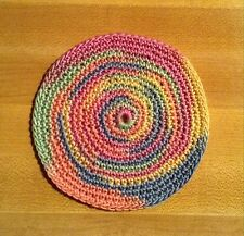 "DOLL HOUSE MINIATURE AREA RUG -- Fits Renwal -- Pastels Round -- 3-1/2"" Diam"