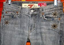 7 For All Mankind Jeans SIZE 27 WOMEN'S The Great China Wall Bootcut MADE IN USA