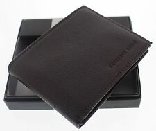 NEW Geoffrey Beene Men's Bilfold Wallet Brown With Free Shipping And Gift Box