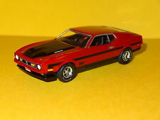 1971 FORD MUSTANG MACH 1 429 RAM AIR RED 1/64 LIMITED EDITION REAL RUBBER