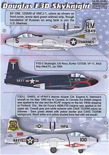 Print Scale Decals 1/72 DOUGLAS F3D SKYKNIGHT Jet Fighter