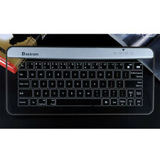 Bastron Bluetooth Wireless Glass Touch Smart Keyboard w/Gesture Control - Silver