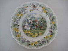 """ROYAL DOULTON BRAMBLY HEDGE 8"""" SURPRISE THE OUTING PLATE ENGLISH  CHINA 1st QUAL"""