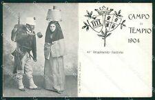 Sassari Olbia Tempio Pausania Costumi Militari cartolina QT2403