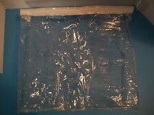 LOT 10 DISPOSABLE  PLASTIC CLEAR ZIPPERED STORGAE BAGS 15x 13 x 2.5""