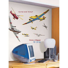 AIRPLANES Planes MURAL wall stickers 25 GIANT decals TAKE FLIGHT room decor
