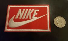 "Nike RED iron on PATCH -  patches new  Appx 3"" x 2"" Nice"