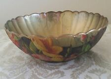 VINTAGE HANDCRAFTED LARGE  DECOUPAGE DURARC FRANCE BOWL PERFECT TO DISPLAY FRUIT