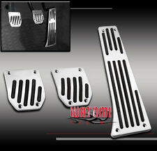 BMW MT MANUAL ALUMINUM PEDAL PAD SET COVER KIT 3PCS E30 E36 E60 E87 E92 M5 Z3 X3