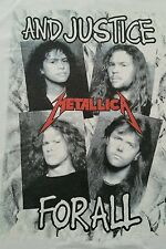 Vintage Original 1988 Metallica white ....And Justice For All' t-shirt 80s Rare