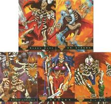 Skeleton Warriors Luma Bone Chase Card Set of 5 Cards from Fleer Ultra