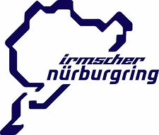 Nurburgring Irmscher Logo Vinyl Cut Sticker Decals 200x170mm - FREE UK DELIVERY