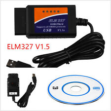 Portable ELM327 USB Interface OBD2 Connector Vehicle Diagnostic Scanner Scan Kit