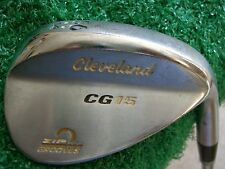 Cleveland CG15 Satin Chrome 56* Sand Wedge W/ traction steel wedge flex  MRH