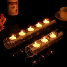 Glass Tealight Holder 2/5 cote Tube Candle Holders Conjoined Decor x 1