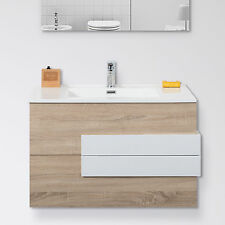 Mobile da bagno sospeso 60 cm rovere biondo con specchiera bagno piccolo offerta