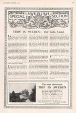 1921-SPECIAL SWEDISH SECTION-4 PAGES,8 SIDES COVERING INDUSTRY,TRAVEL,BANKING