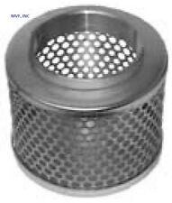 """STRAINER ROUND HOLE 1-1/2"""" FEMALE NPT PLATED STEEL SUCTION HOSE  RHS1.5WH"""