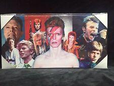 David Bowie Música legado de artista Cuadro Lienzo Regalo 24 x12 Listo Para Colgar