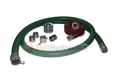 "2"" Green Water Suction Hose Honda Complete Kit w/100' Red Discharge Hose"