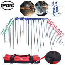 PDR Push Rods Auto Body Tools Paintless Dent Hail Ding Repair Puller w/bag 31pc