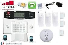Kit Alarme Maison Sans Fil GSM Appel Automatique Détecteur De Fumée Intrusion 2