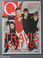 Q Music Magazine June 2001, Chrissie Hynde/Brian Epstein/Depeche Mode/Faithless
