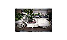 1964 Vestpa Vbb Bike Motorcycle A4 Retro Metal Sign Aluminium