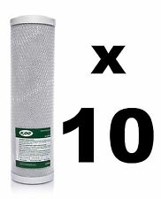 "10 x CARBON BLOCK FILTERS FOR REVERSE OSMOSIS UNITS, 10"",RO,WATER FILTER WWBH"