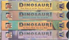 VHS: LOT OF 4 PBS THE DINOSAURS