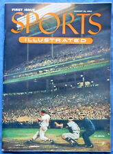 Sports Illustrated Magazine First Issue 8/16/1954 with Baseball Cards & Mailer