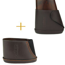 Tourbon Butt Stock Holder Slip-on Recoil Pad Gun Rifle Leather 2  Close Version